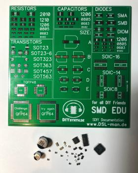 SMT EDU Testboard PCB and Parts